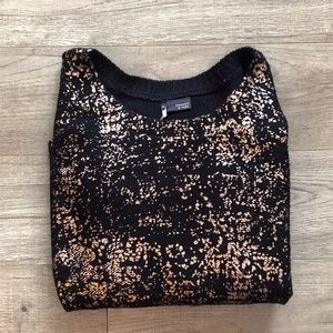 Sparkle & Fade (UO) Gold Foil Shimmer Knit Sweater